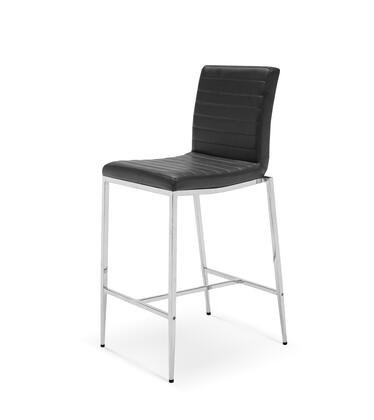 BS1064P-BLK Lily Counter stool  Black Faux Leather