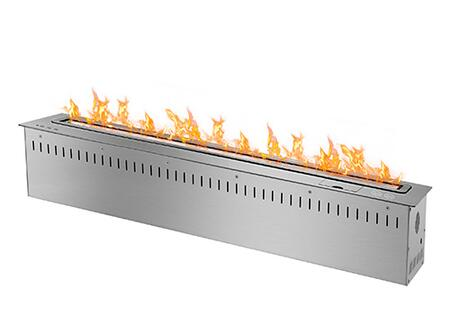 RCFB9000 36 inch  Smart Burner Collection Bio Ethanol Fireplace Insert with Remote Controlled Smart Burner  11 220 BTU - 29 200 BTU  CO2 Sensor and Insulated Bottom
