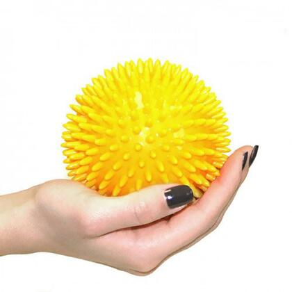 JAS-100-MBALL-YL 3.94 inch  Massage Ball with Squishy  Spikey Design in