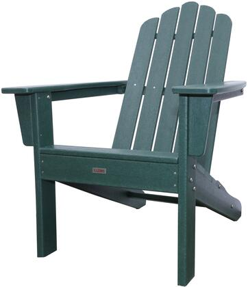 Marina LUX-1519-DGN Outdoor Patio Adirondack Chair with 250 lbs. Weight Capacity  Wide Seating and Recycled High Density Polyethylene Construction in Dark