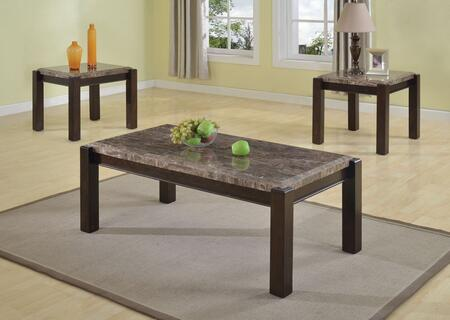 Dwayne 80791CE 3 PC Living Room Table Set with Coffee Table + 2 End Tables in Emparedora Gray