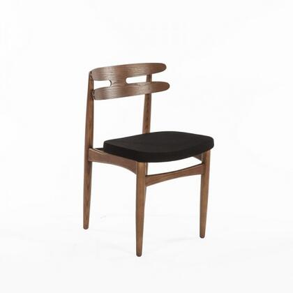 Stavanger FEC2219BLK Dining Chair with Tapered Legs  Stretchers and Solid Wood Construction in