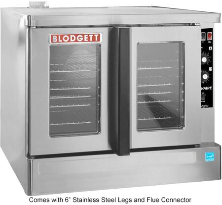 Zephaire-100-G-ES ADDL Zephaire Series Energy Star Standard Depth Gas Convection Oven with Rigid Insulation  Porcelain Liner  Dependent and Heavy Duty Doors: