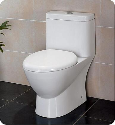 "Serena Collection FTL2346 28"" One-Piece Dual Flush Toilet with Soft Close Seat  WaterSense Certified and Elongated"