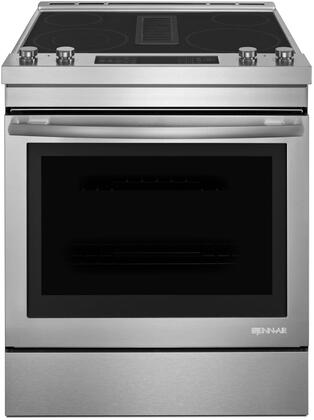 "JES1750FS 30"""" Electric Downdraft Range with 6.4 Capacity  Duct-Free Filer Kit  Dual Zone Elements  True Convection  Telescoping Glide  Rack  and Aqualift Self"" 810541"