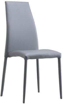 LS-403-G 38 inch  Dining Chair with Metal Base Frame and Fire-Resistant Eco-leather Upholstery in
