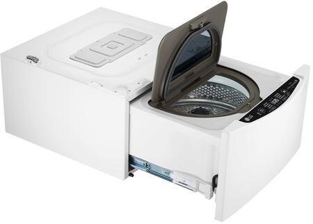 LG LUWD1CW SIGNATURE 24 in. 0.7 cu. ft. Sidekick Pedestal Washer in White
