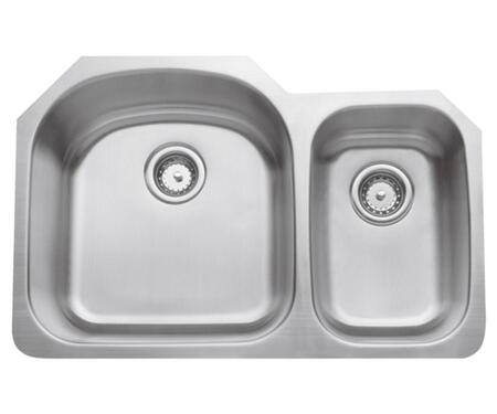 CMU3221-97D-16 Double Bowl Undermount 16 GA  Stainless Steel  Small Bowl on