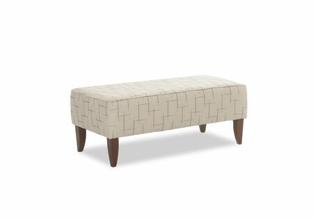 """Piano Collection 9848-OTTOC-PL 48"""""""" Ottoman with Fabric Upholstery  Tapered Legs and Stitched Detailing in Philosophy"""" 742123"""