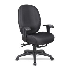 ADID34-SS-B Aaria Dido Black Multi Function Task Chair with 4 Paddle Mechanism with Seat Slider in Black