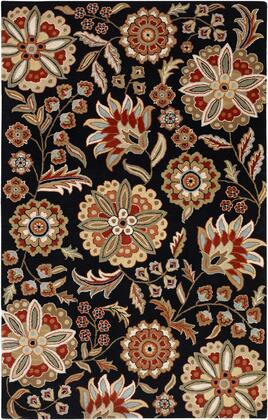 Athena Collection ATH5017-69 Rectangle 6' x 9' Area Rug  Hand Tufted with Wool Material in Black and Red