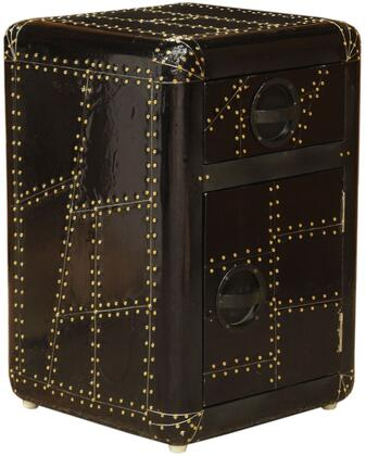 Ds-a160-902 16 Aviation Door Chest With One Drawer And One Door For Storage  Recessed Hardware Pulls And Hardwood Frame In