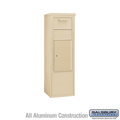 3910SX-1CSF Free-Standing 4C Horizontal Collection Box ADA Height Compliant (Includes 3710S-1CSF and 3910SX-SAN Enclosure) - 10 Door High Unit (52-3/4 Inches)