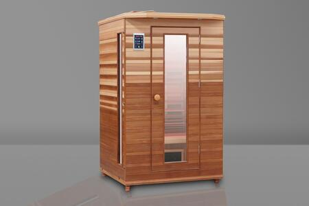 HM-ASE-2-CD-CL 48.5 inch  Infrared Sauna with Ergonomic Bench  Trulnfra Heater  Low EMF Tecoloy Heaters  Low EMF Trulnfa Heaters  Low Back Heater  Floor Heater and