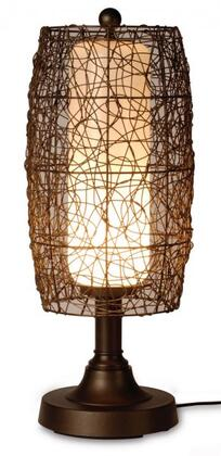 68287 Bristol 30 Outdoor Table Lamp With Wicker Barrel Shade  In