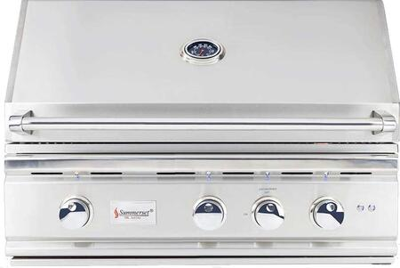 "TRL32-LP 32"""" TRL Series Built-In Liquid Propane Grill with 3 Stainless Steel U-Tube Burners  Rotisserie Infrared Back Burner  925 sq. in. Cooking Surface and"" 759146"