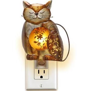 DFA0898 Nightlight Decor - Cat in Brown