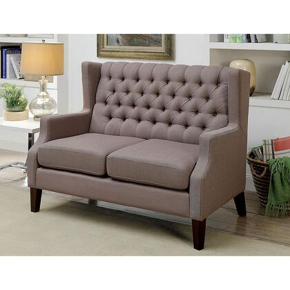 Robin CM-BN6186-LV-PK Loveseat with Contemporary Style  Wingback Design  Button Tufted  Padded Fabric in