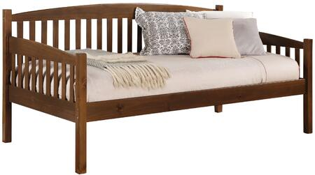 Caryn Collection 39090 Daybed with Finial Decor  Pumpkin Feet  Medium-Density Fiberboard