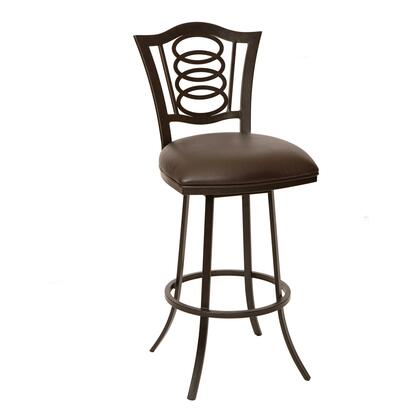 LCES26BABR Essex 26 inch  Transitional Barstool In Coffee and Auburn Bay