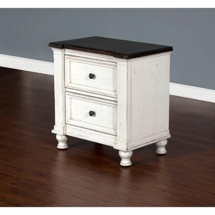 Carriage House Collection 2308EC-N 28 Nightstand with 2 Drawers  Removable Bun Feet and Planked Top in European Cottage