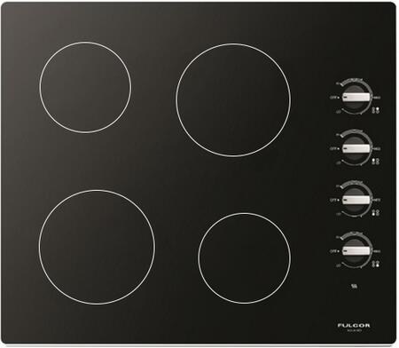 "F3RK24B2 24"" 300 Series Electric Cooktop with 4 Radiant Elements  Lateral Knobs  Hot Surface Indicator and Residual Heat Indicator  in"