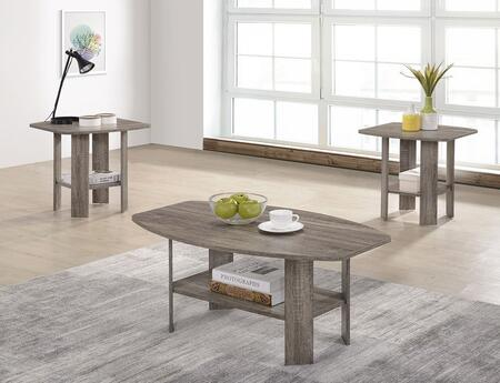 Chip T178-01-2ET 3-Piece Living Room Table Sets with Cocktail Table and 2 End Tables in Darker