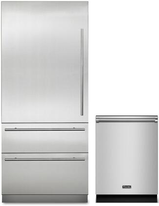 2-Piece Stainless Steel Kitchen Package with MVBI7360WLSS 36