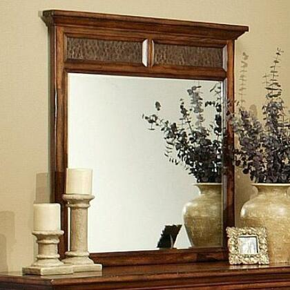 210701 Marissa County Beveled Mirror with Solid Cherry Wood Frame in Cumin Spice