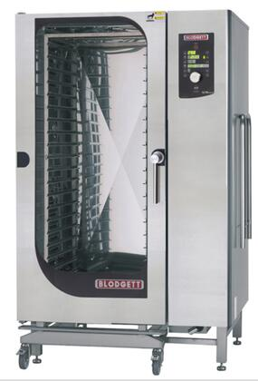 BCM202E Roll-In Electric Boiler based Combination-Oven/Steamer with Dial and Digital controls  Reversible 9 speed fan  Up to 50 recipe programs with 10 cooking