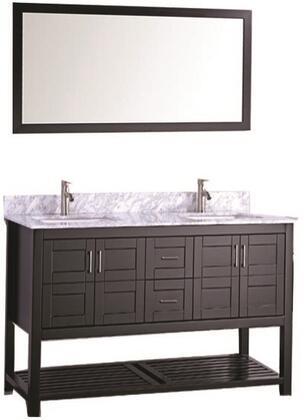 -2160E Norway 60 Single Sink Bathroom Vanity Set