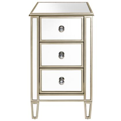DSD1140021 Ed Chairside Table With Gold Trim In Silver