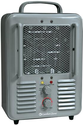 CZ798 Multi-Purpose Utility Heater Fan with 5120 BTU  2 Heat Settings  Fan Only Setting  Adjustable  Thermostat  and Durable Metal