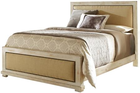 Willow P610-94-95-78 King Upholstered Bed with Headboard  Footboard and Side Rails in Distressed