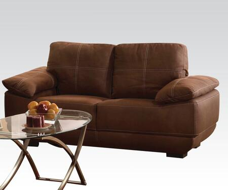 Memphis Collection 51726 71 inch  Loveseat with Tight Seat Cushions  Baseball Stitching  Loose Back and Nubuck Upholstery in
