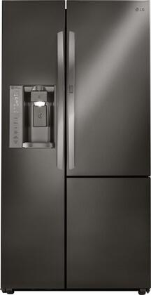 LG LSXC22486D 22 Cu. Ft. Black Stainless Side-by-Side Counter-Depth Refrigerator with Door-in-Door