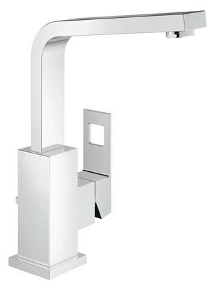 Grohe 2318400A Eurocube Single-Handle Bathroom Faucet, Large, Starlight