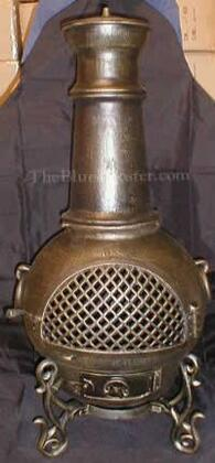 ALCH016GAGKLP Gas Powered Gatsby Chiminea Outdoor Fireplace in Gold Accent - Liquid