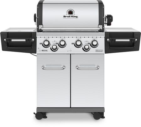 956347 REGAL S490 PRO Natural Gas Grill with 4 Burners  50000 BTU Main Burner Output  500 sq. in. Cooking Area  10000 BTU Side Burner  and 15000 BTU Rotisserie