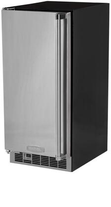 "Professional MPRO30IMT-BS-L 15"" Clear Ice Maker with 34 lb. Daily Ice Production  30 Lb. Ice Storage Capacity  Cleaning Mode  Sound-Buffering Ice Deflector:"