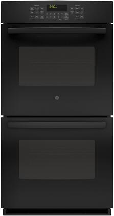 "GE 27"" Built-In Double Electric Convection Wall Oven Black JK5500DFBB"