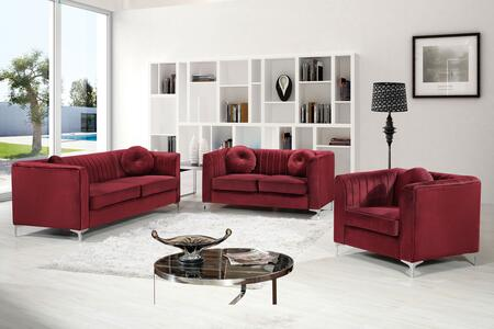 Isabelle Collection 6123PCSTLARMKIT4 3-Piece Living Room Sets with Stationary Sofa  Loveseat and Living Room Chair in