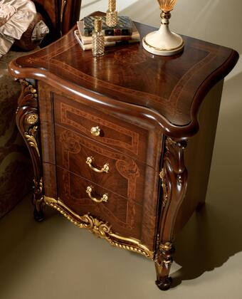 """Donatello_DONATELLONS_25""""_Nightstand_with_3_Drawers__Simple_Pulls_and_Cabriole_Legs_in"""