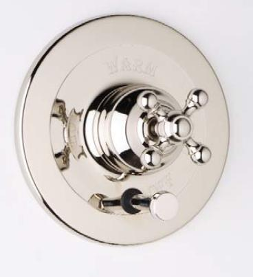 AC200X-PN Trim for Pressure Balance Concealed Bath and Shower Mixer With Diverter  Cross Handle  Polished