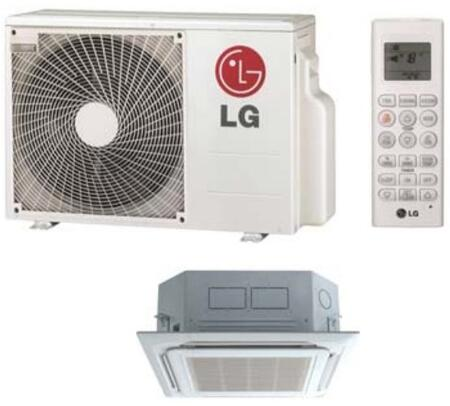 LC180HV 18000 BTU Single Zone Ceiling Cassette Mini Split AC With Heat R-410A Refrigerant Jet Cool Swirl Wind (LUU180HV Outdoor/LCN180HV Indoor) in