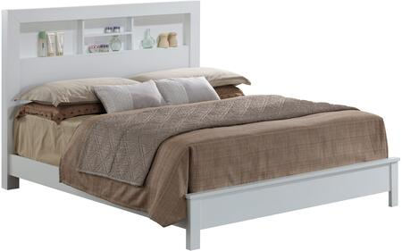 G2490B-KB2 King Bed with Storage Headboard  and Clean-Line Design in