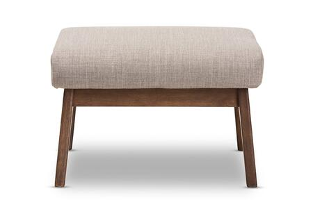 BIANCA-LIGHT GREY/WALNUT BROWN-OTTO Baxton Studio Bianca Mid-Century Modern Walnut Wood Light Grey Fabric