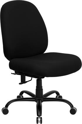 WL-715MG-BK-GG HERCULES Series 400 lb. Capacity Big and Tall Black Fabric Office Chair with Extra WIDE
