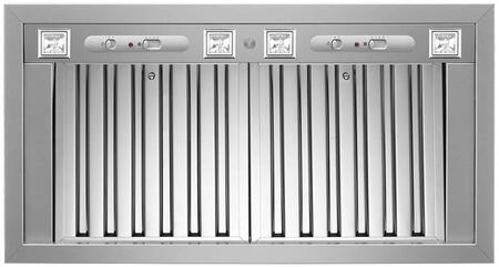 Bertazzoni KIN46PRO 1200 CFM 46 Inch Wide Insert Range Hood with Baffle Filters, Stainless Steel
