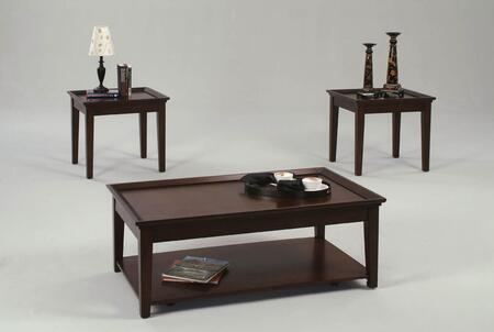 Encore P577-95 3-Piece Table Set with 1 Cocktail Table with Casters and 2 End Tables in